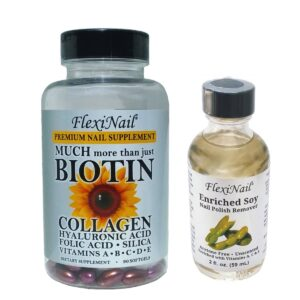 FlexiNail Biotin Supplement and Soy Nail Polish Remover