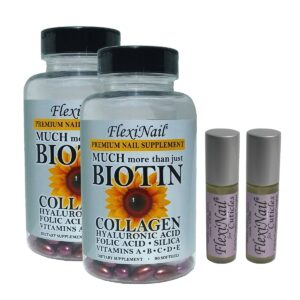 FlexiNail Two Pack Biotin Supplement And Cuticle Care